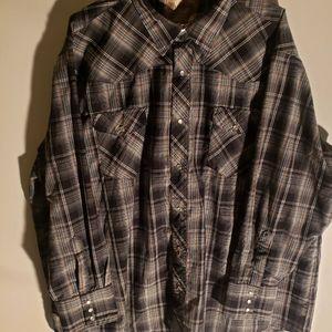 Wrangler Mens Western Shirt S 3X